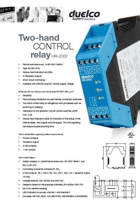 Duelco HR-2007 data sheet