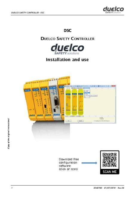Duelco Safety Controller manual