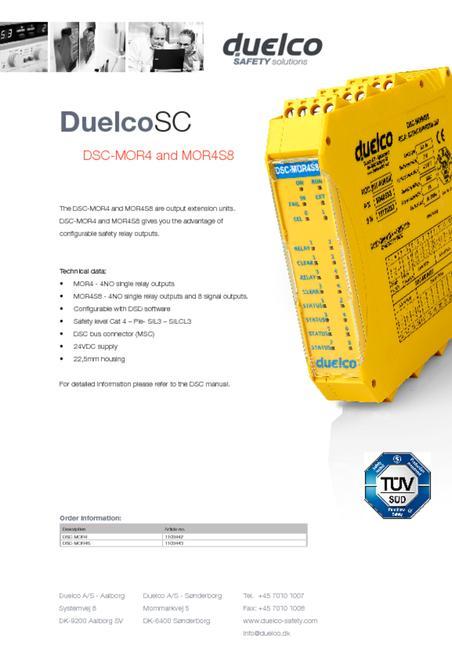 Duelco DSC-MOR4-MOR4S8 data sheet
