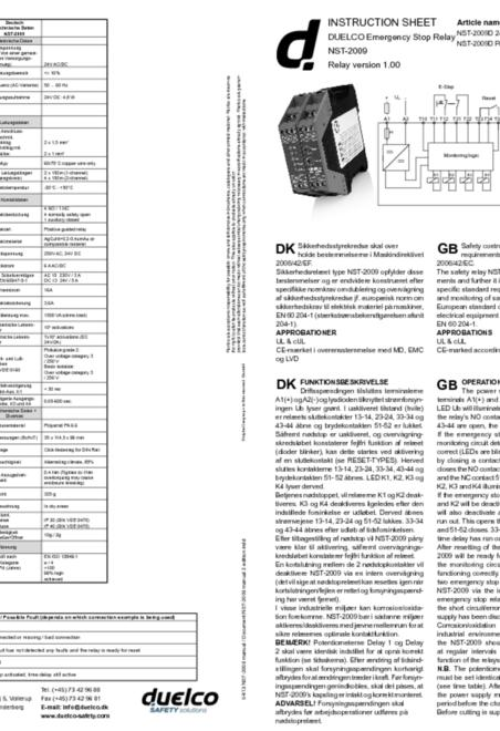 Duelco NST-2009 manual