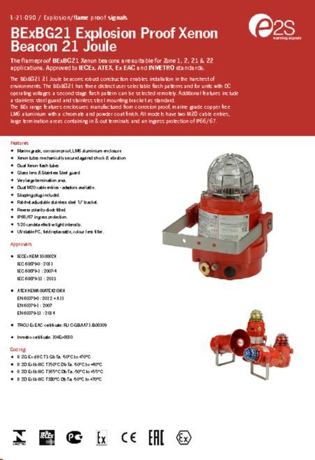 E2S BExBG21D flyer